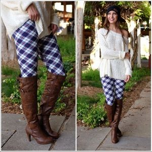 🆕🍁Royal Blue Plaid Leggings🍁